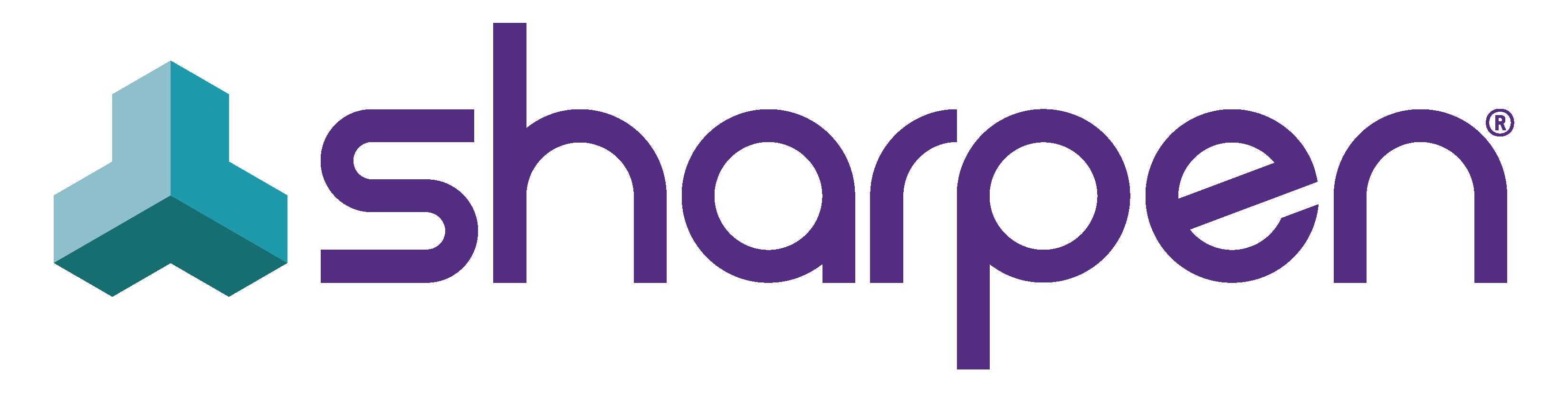 Sharpen Logo Purple